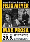 Kranichfelder Liedernacht mit Felix Meyer und Max Prosa